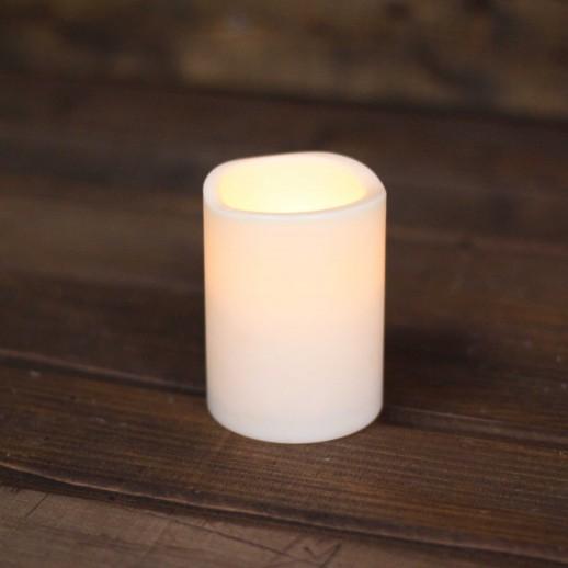 Аренда LED свечи, теплые, молочного цвета, h=9см