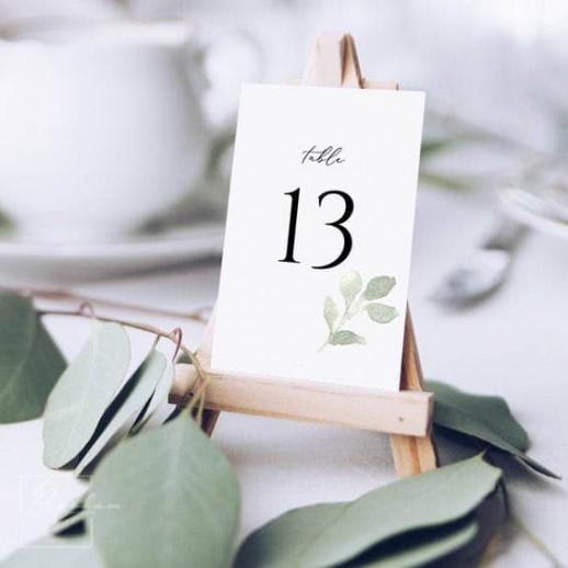 Нумерация на стол №1