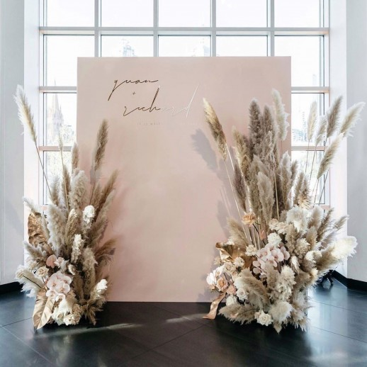 Декоративная фотозона с цветочными композициями № 2288
