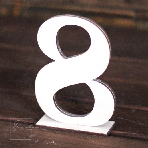 Аренда нумерации столов, фанера натуральная