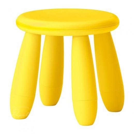 Детский стульчик 30 х 30, пластик, желтый