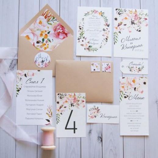Пригласительный на свадьбу № 13
