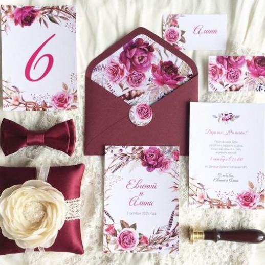 Пригласительный на свадьбу № 16