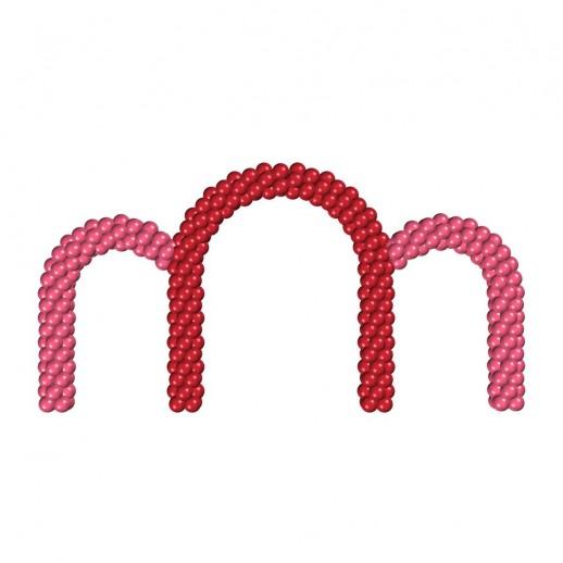 Арка из плетеных шаров № 5, цена за 1м