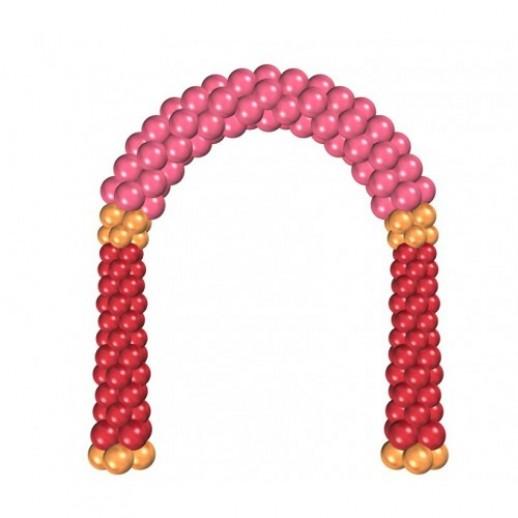 Арка из плетеных шаров № 11, цена за 1м