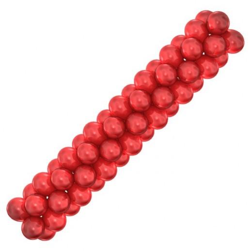 Гирлянда красная, металлик, цена за 1 м
