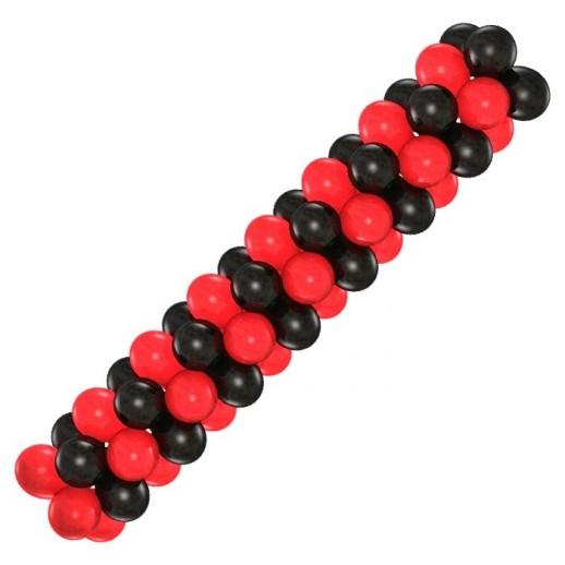 Гирлянда черно-красная, цена за 1м