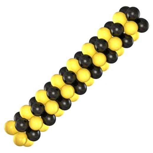 Гирлянда черно-желтая, цена за 1м