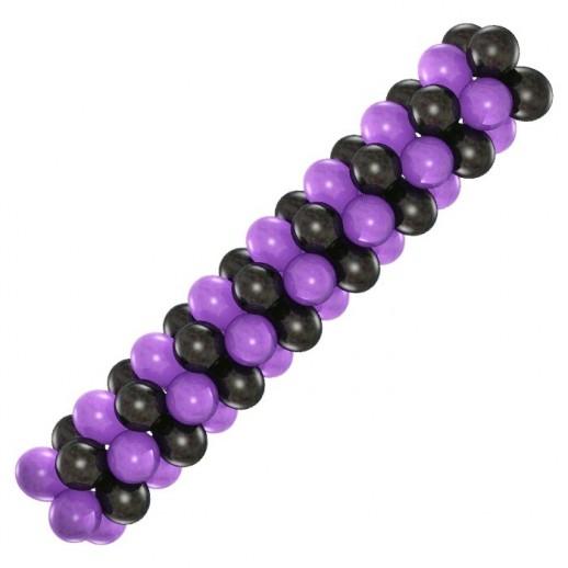 Гирлянда черно-фиолетовая, цена за 1м