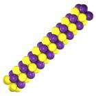 Гирлянда желто-фиолетовая, цена за 1м