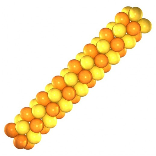 Гирлянда оранжево-желтая, цена за 1м