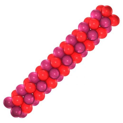 Гирлянда красно-малиновая, цена за 1м