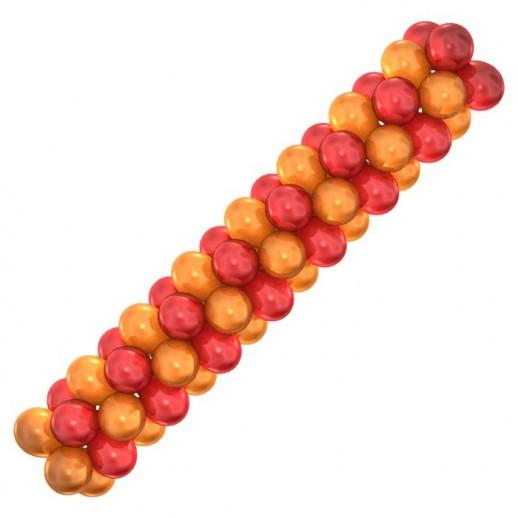 Гирлянда красно-оранжевая, цена за 1 м