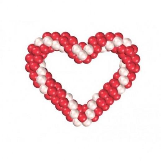 Сердце плетеное № 2