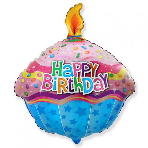 Кекс, С Днем Рождения, фольгированный шар