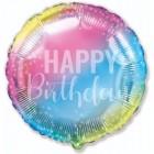 Круг, С Днем Рождения, фольгированный шар