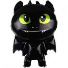 Маленький дракон, Черный, фольгированный шар