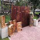 Аренда деревянной ширмы (вертикальная, орех), 3 х 2м + стойки