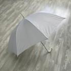 Зонт, белый с белой ручкой