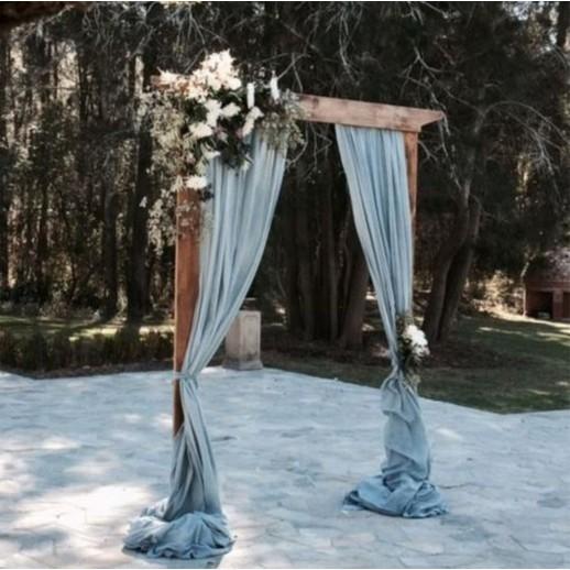 Деревянная арка с цветами № 2268