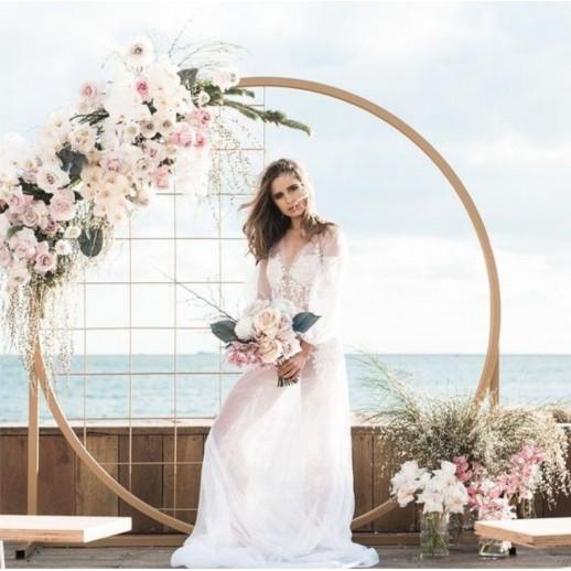 Круглая арка с цветами № 2269
