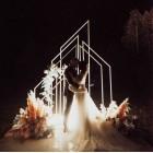 Декоративная конструкция с цветами и подсветкой № 2271